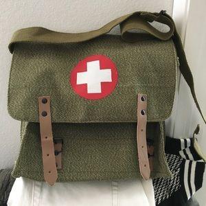 Authentic Army Surplus Messenger Bag Satchel - New
